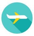 airplane circle icon vector image