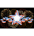 American background with star and fireworks vector image