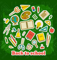 back to school elements template vector image vector image