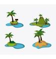 Beach design Summer icon Colorful vector image vector image