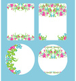 beautiful floral wedding design vector image