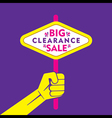 big clearance sale banner or poster design vector image vector image