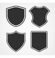 Black shield icon set with different shapes vector image vector image