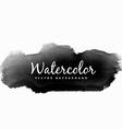 black watercolor ink splash vector image vector image