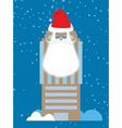 Building of Santa Claus Skyscraper with beard and vector image