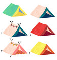 camping teepee tents icon set vector image vector image