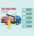car assistance service flat vector image vector image