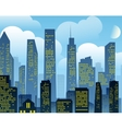 Cartoon city background vector image vector image
