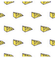 cheese line icon seamless pattern vector image vector image