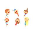 children go in for summer sports vector image vector image