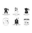 collection hand drawn coffee shop cafes vector image