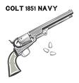 Colt Navi Revolver vector image