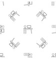 computer table pattern seamless vector image vector image