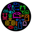 concept accessories icons for mobile phone vector image vector image
