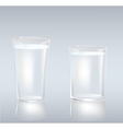 Cups of water vector image vector image
