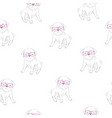 cute pug pattern vector image vector image