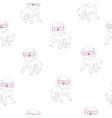 cute pug pattern vector image vector image