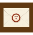 Envelope with rosette seal vector image vector image