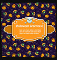festive halloween party template vector image vector image
