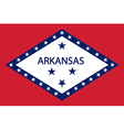 Flag of Arkansas vector image