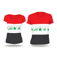 Flag shirt design of Iraq vector image vector image