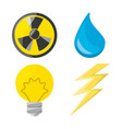flat icon releated with nuclear energy drop water vector image vector image