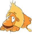 Funny yellow lion cartoon vector image