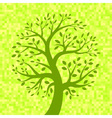 Green Tree icon on Light Pixel Background vector image vector image