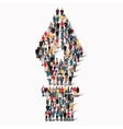 group people shape fountain pen vector image