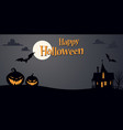 halloween background template vector image vector image