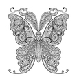 Hand drawn magic butterfly for adult anti stress vector image