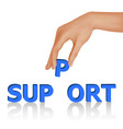 hand support vector image