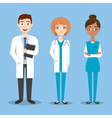 happy doctor characters man and woman vector image vector image