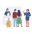 health thermal screening passengers at airport vector image