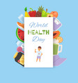 health wold day food background banner vector image vector image