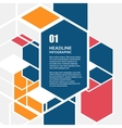 hexagon infographics set Template for vector image vector image