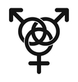 Homosexual family icon vector image