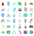 indicator icons set cartoon style vector image vector image