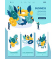 isometric brainstorming team collaborationn vector image vector image