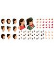 isometrics create your emotions teenage girl vector image