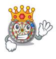 king cartoon dartcoard next to wooden table vector image vector image