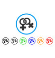 lesbi symbol rounded icon vector image vector image