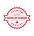 made in canada badge round label vector image