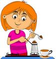 make coffee vector image