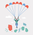man on parachute vector image