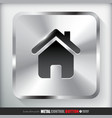 Metal Home Button vector image vector image