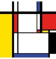 Modern painting in mondrian style square vector image