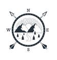 mountain adventure logo vector image vector image