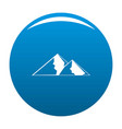 mountain for extremal icon blue vector image vector image