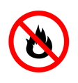 No Fire flame sign icon vector image vector image